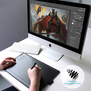 Image 5 - Huion New 1060 Plus Professional Digital Drawing Tablet 8192 Levels Pen Pressure 12 HotKey Graphic Tablets with Two Digital Pens