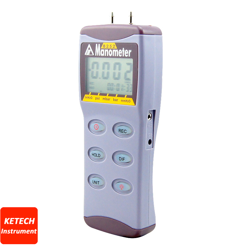 Digital Manometer Differental Pressure Tester AZ8205