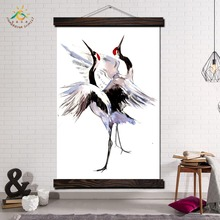 Japanese Crane Artwork Modern Canvas Art Prints Poster Wall Painting Scroll Pictures Home Decoration