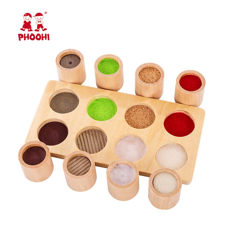 Baby Wooden Montessori Sensory Material Toy Kids Preschool Educational Tactile Toy For Children PHOOHI(China)
