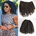 8A Brazilian Afro Kinky Curly Clip In Human Hair Extensions African American Clip In Human Extensions For Black Women Clip Ins