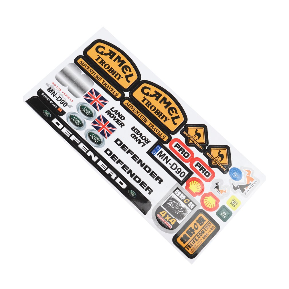 Micro Sponsor Logo Racing Sticker Sheet Universal For WPL & MN RC Car Crawler Sticker Parts RC Car Parts Durability