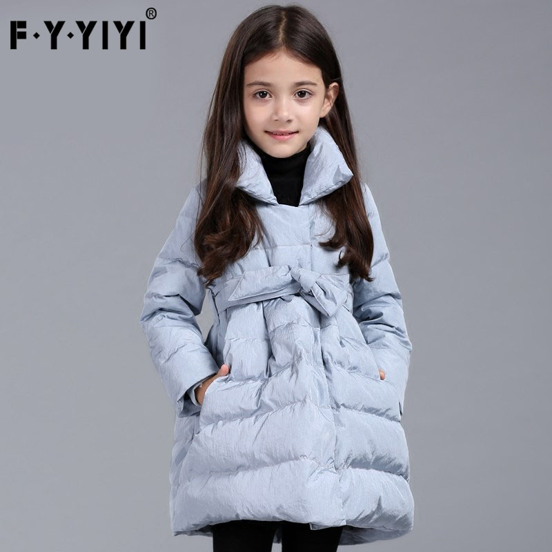 Girls in long down jacket with thick 6 children's eight children ten years old children in winter to keep warm winter cuhk feath hormonal key players for obesity in children with down syndrome