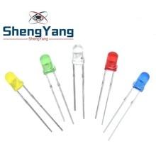 5 цветов s* 20 шт = 100 шт/1 цвет = 100 шт F3 3 мм светодиодный диодный светильник Ассорти комплект зеленый синий белый желтый красный набор компонентов «сделай сам»