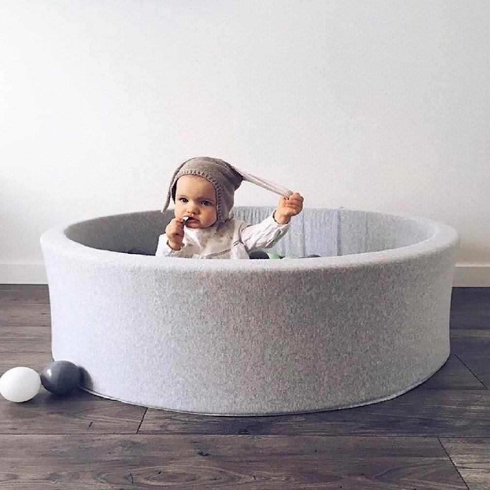 OCDAY Fencing Manege Round Play Pool Infant Ball Pool Pit for Baby Play Ocean Ball Funny