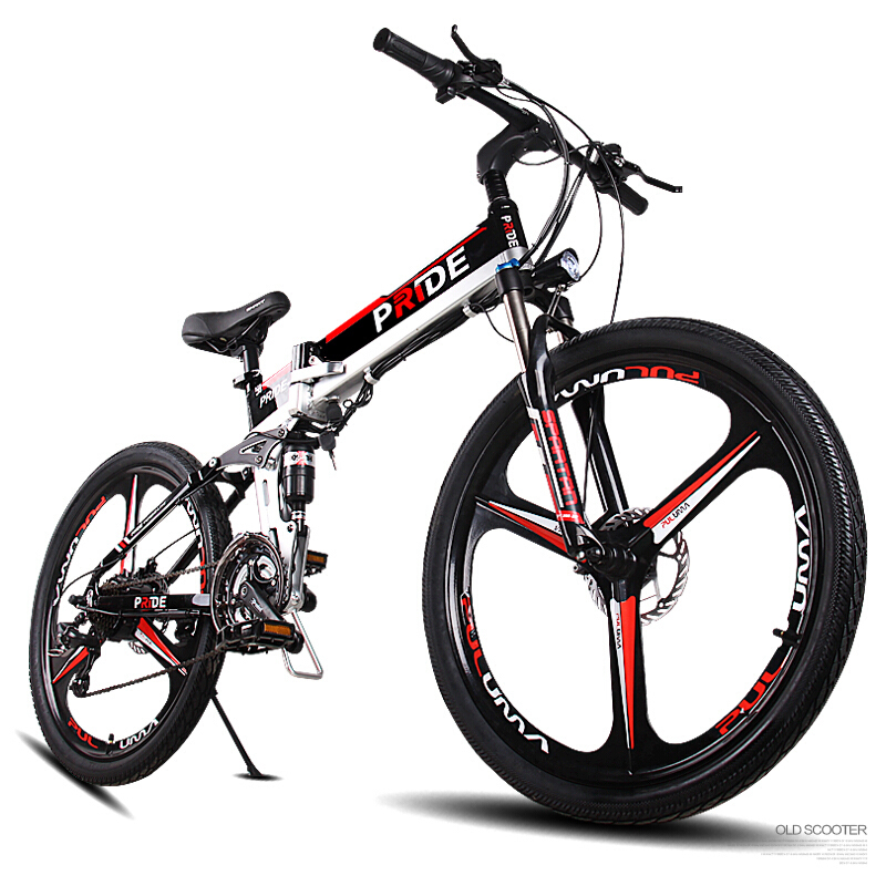 26 pollici mountian bicicletta a tre razze ruote elettrico 48 V MTB antifurto batteria al litio 500 w ad alta velocità motore 21 velocità ebike