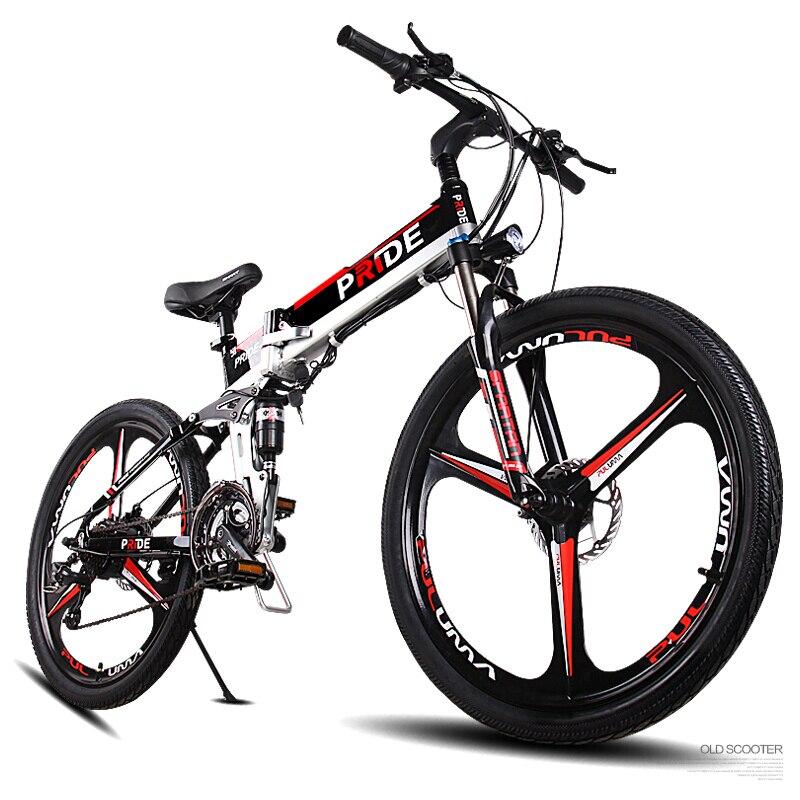 26 pouces électrique mountian vélo trois rayons roues 48 V VTT anti-vol batterie au lithium 500 w haute vitesse moteur 21 vitesse ebike
