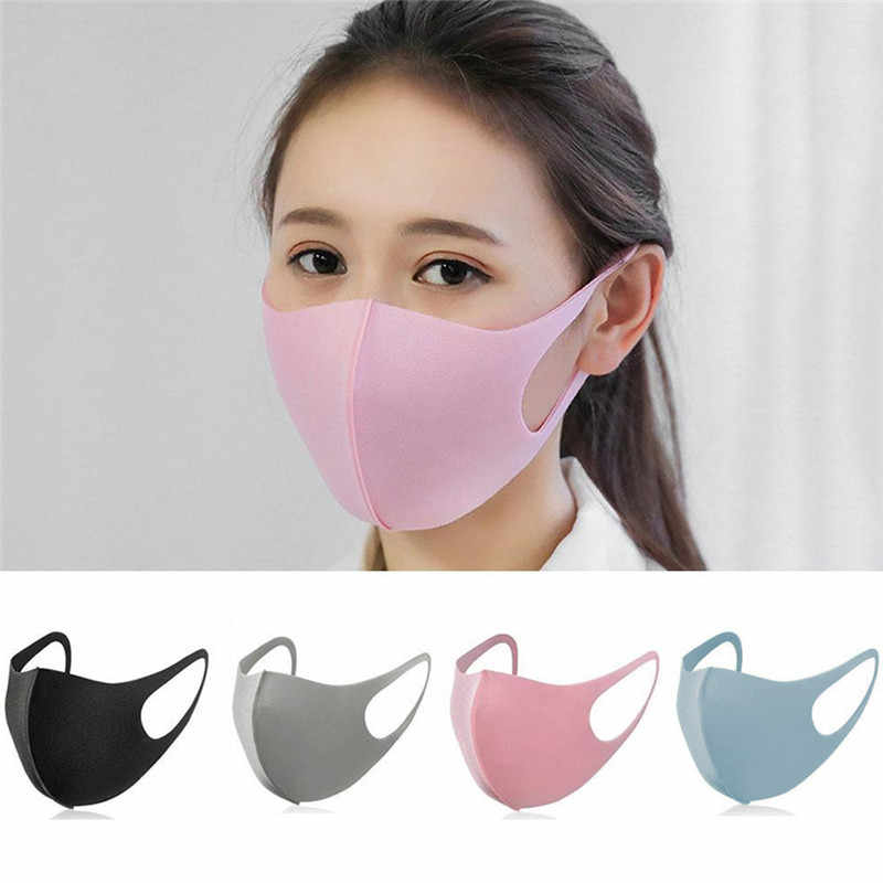 Novo lavável earloop máscara 3d gelo seda algodão ciclismo lavável anti poeira filtro boca máscara facial cuidados respirador para o verão #297304