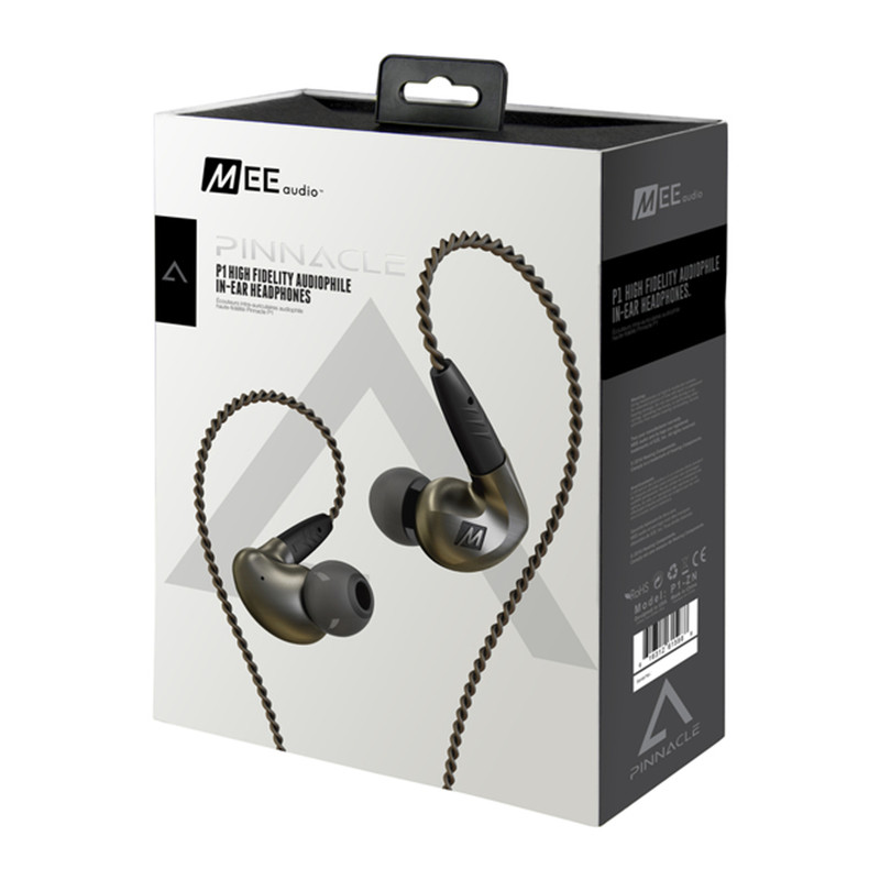Professional! MEE Audio Pinnacle P1 Earphone High Fidelity Perfect Sound In Ear Earphones Monitor Headset With Detachable Cables