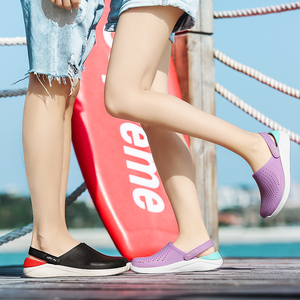 Image 5 - Summer Beach Shoes Woman Outdoor Slippers Breathable Sandals Men Antiskid Slides Couples Flip Flops Slip on Crocse Zapatillas