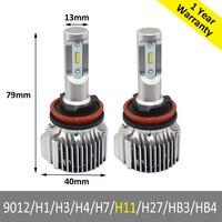 1SET H11 H9 H8 LED Headlight Conversion Kit V1 Car DRL Fog Light Kit 72w White