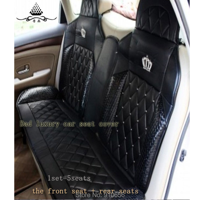 Dad Luxury Car Seat Cover Universal Four Seasons General Diamond Pad All Cushion Auto Interior Accessories Styling In Automobiles Covers