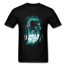 Giant Barbaric Zombie Bear Printed On Black T Shirt For Men 100% Cotton T Shirts New Trendy Fashion Brand Tops T-Shirt Cool(China)