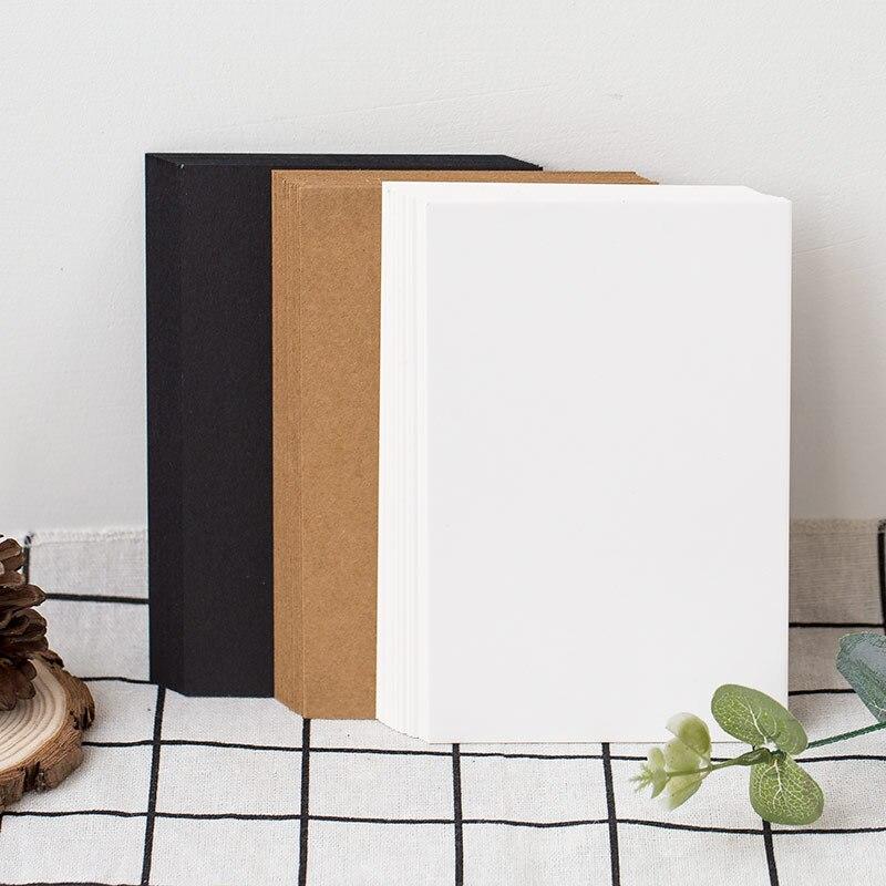 (25 folhas/lote) diy cartão em branco cartão de papel branco scarpbooking graffiti cartão de felicitações preto e branco kraft cartão de papel