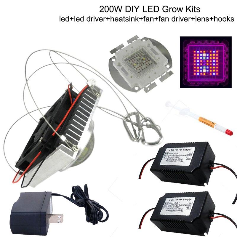DIY 200W Led Grow Light , 8 band full spectrum led grow chip , easy assemble , most high efficiency led grow light грядка на ножках keter easy grow коричневая