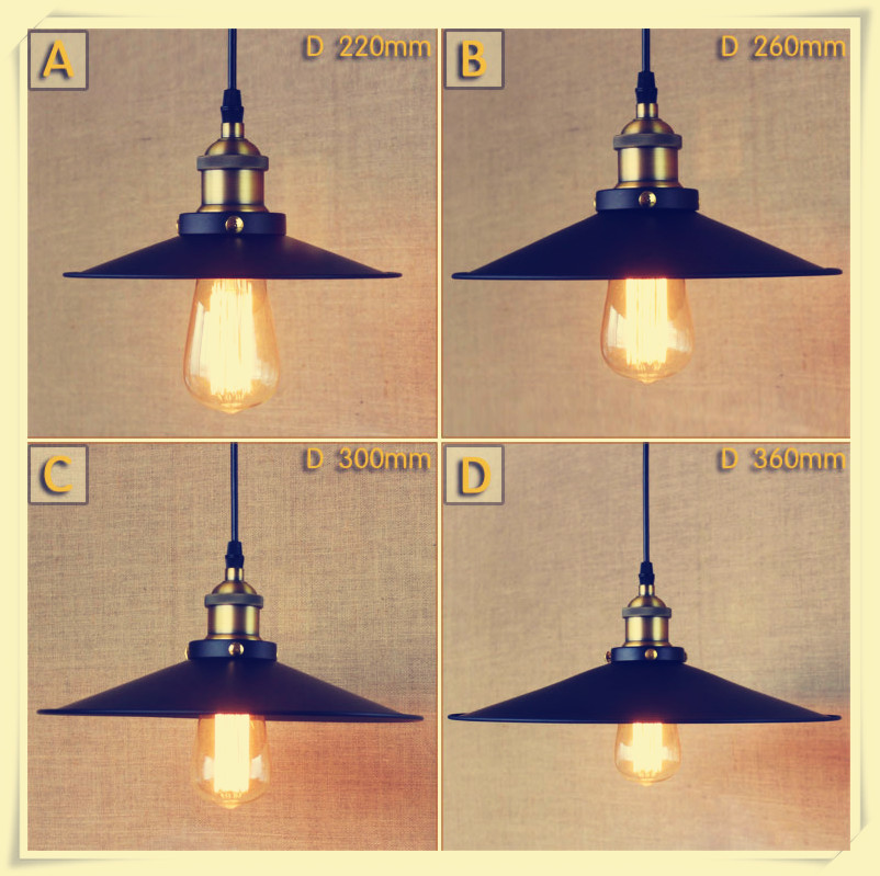 Vintage Industrial Retro Edison Loft Style Pendant Lamp Restaurant Bar lighting Attic Bookstore Pendant Light E27 AC90 260V