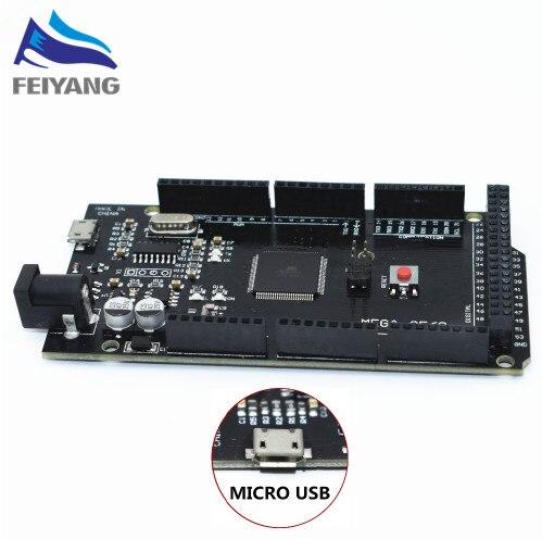 10 piezas Mega 2560 R3 para MEGA2560 CH340G/ATmega2560-16AU MicroUSB. Con Bootloader