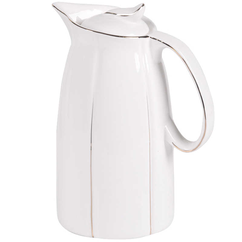 1 6L / 2 5L Ceramic Pitchers Water Bottles Cold Kettle No Explosion Jug  Large Capacity Household Ceramic Thermos
