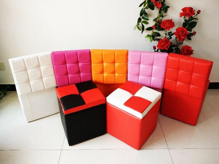 Casa inteligente de cuero muebles taburete de almacenamiento ...