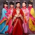 Chinês antigo Roupas Traje Da Princesa para As Meninas Crianças Vestidos de Cosplay Roupas Meninas Miúdos Trajes Da Dinastia Tang Hanfu