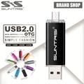 Suntrsi usb 2.0 usb flash drive 32g 64g pen drive 16g inteligente teléfono Tablet PC OTG almacenamiento externo usb stick 8G Pendrive nave Libre
