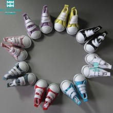 un par de muñecas de juguete de 5 cm Zapatos de moda Denim Canvas Mini Sneakers Shoes para 1/6 Bjd doll Accessories
