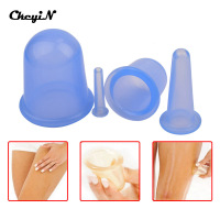 4pcs Set Silicone Anti Cellulite Neck Face Body Massage Family Massager Health Care Cupping Cups AM017