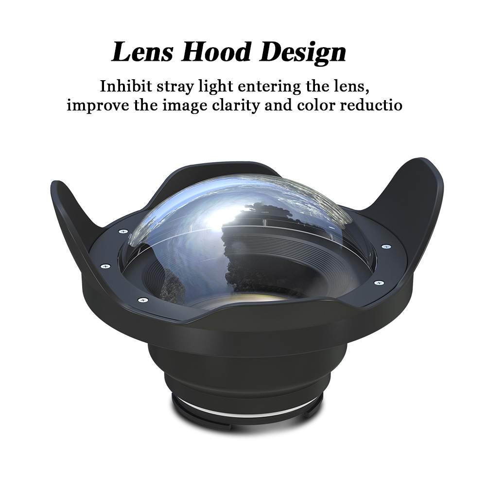 Seafrogs 6 inch Dry Dome Port for Meikon SeaFrogs Housings 40M 130FT Underwater Camera Fisheye for for Sony A7 II Panasonic GH5 in Camera Filters from Consumer Electronics