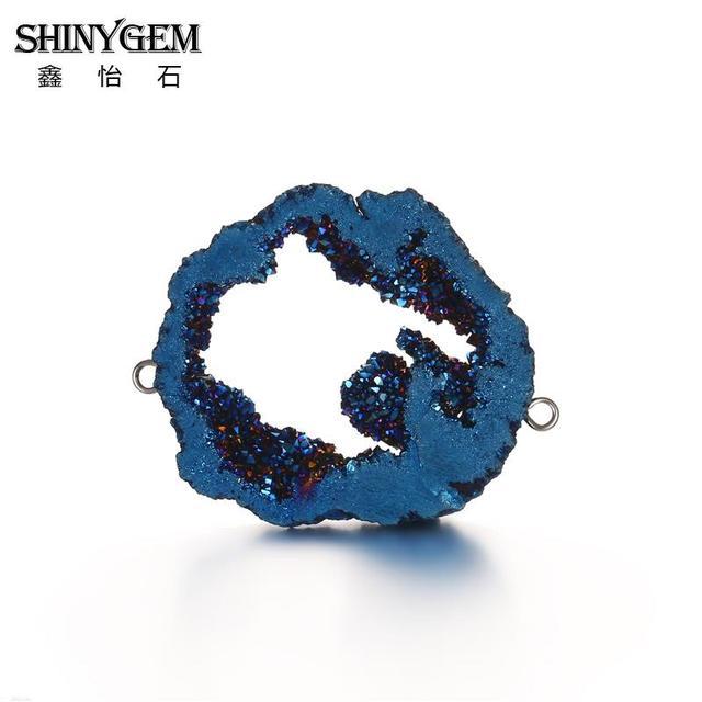Серьги подвески shinygem 30 45 мм с необычным натуральным минеральным
