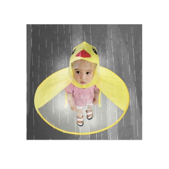 Милый плащ НЛО дождевик Забавный желтая утка Плащ Зонтик пончо Hands Free дождевик непромокаемый детский дождевик