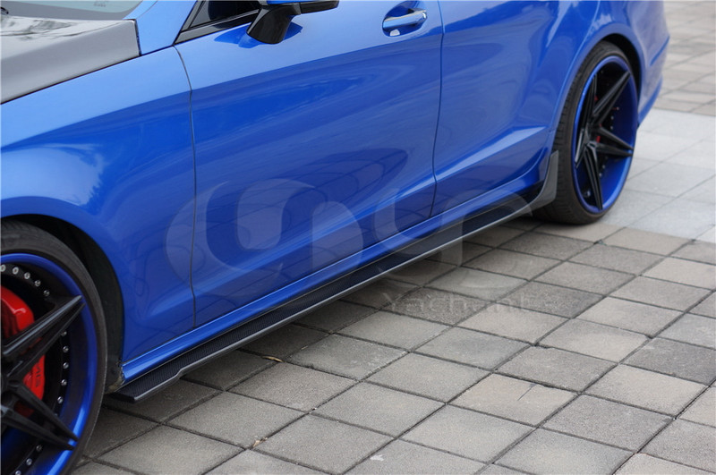 Car-Styling Auto Accessories Carbon Fiber Side Skirt Under Borad Fit For 2011-2013 W218 CLS RNT Style Side Skirts Under Board