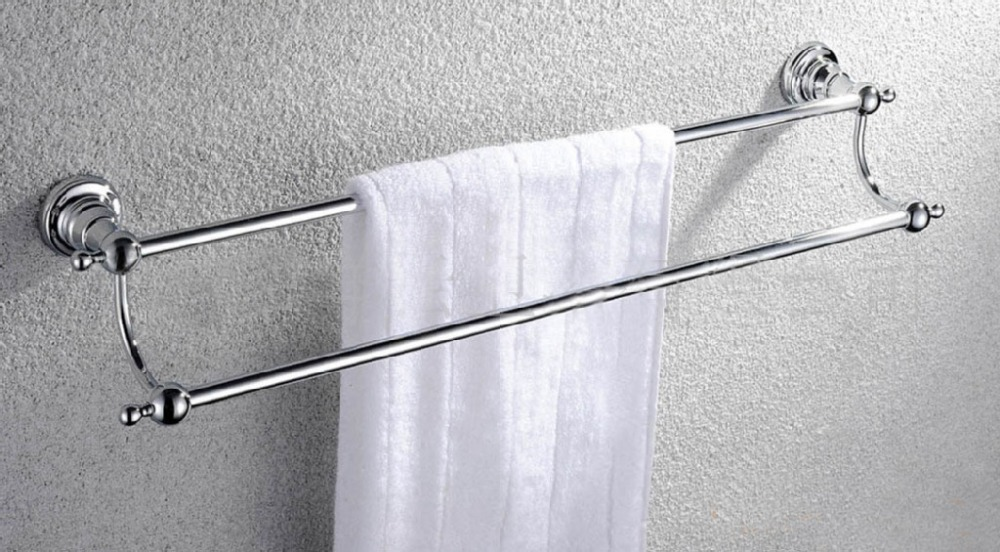 Free shipping bathroom hardware accessories copper towel for Bathroom accessories towel racks