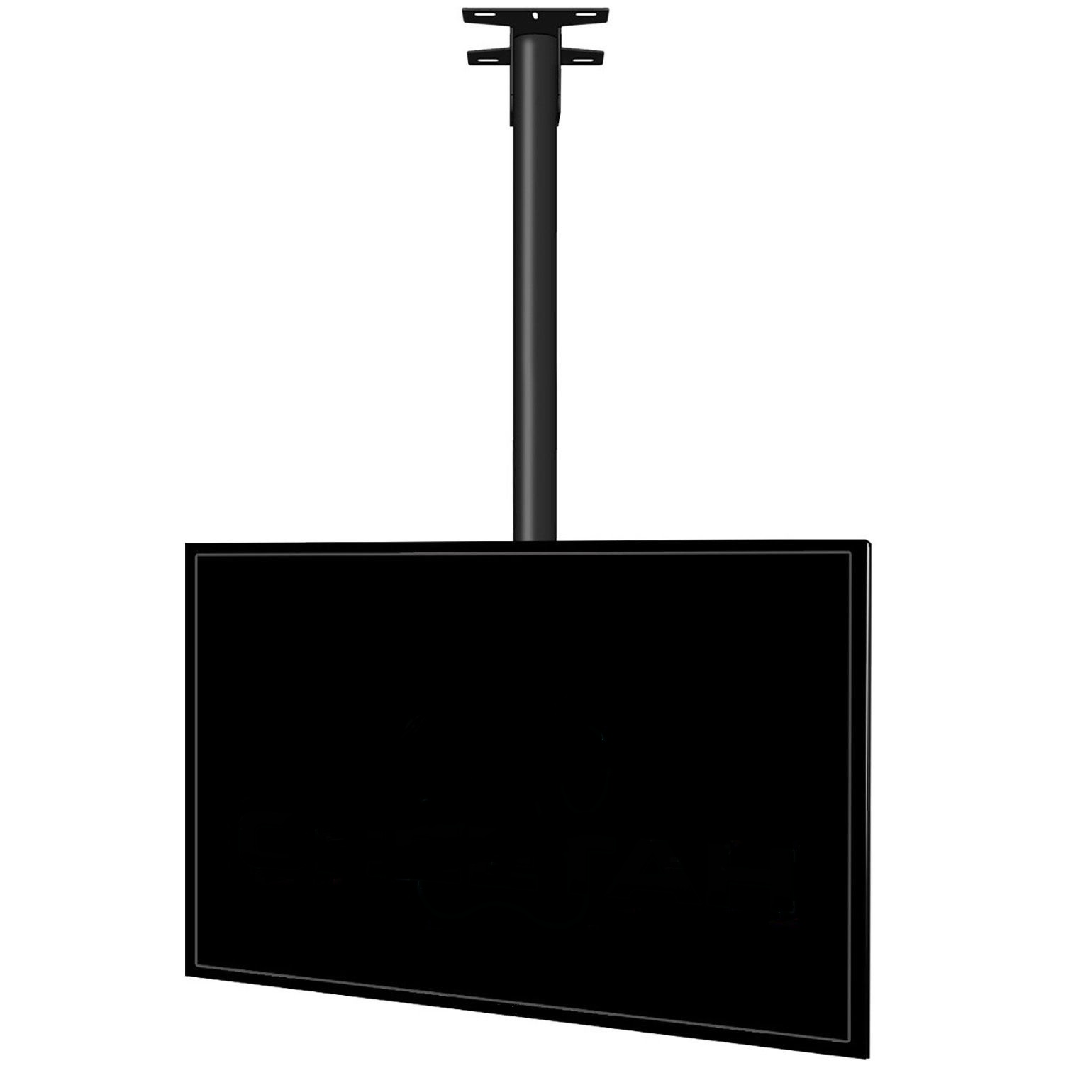 black ematic folding ceiling tv ceilings ip com mounted for walmart bracket tvs mount