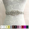 Hot Selling New arrival Handmade Wedding Belt Crystal Rhinestone Stones Bridal Jewelry Formal Wedding Evening Dress Belt FBT02