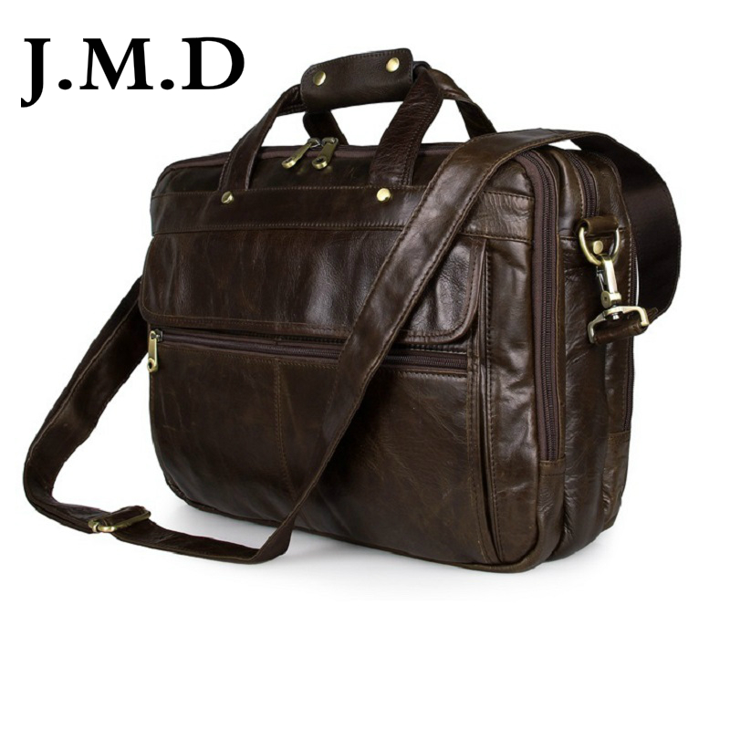 J M D Guarantee Genuine Cow font b Leather b font Men s Briefcases font b