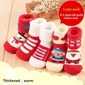 Meias de algodão do bebê recém-nascido do sexo masculino outono e inverno espessamento meias pilha do laço criança babi meias de Natal