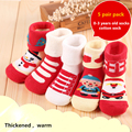 Newborn cotton baby socks male autumn and winter child thickening loop pile socks babi Christmas socks