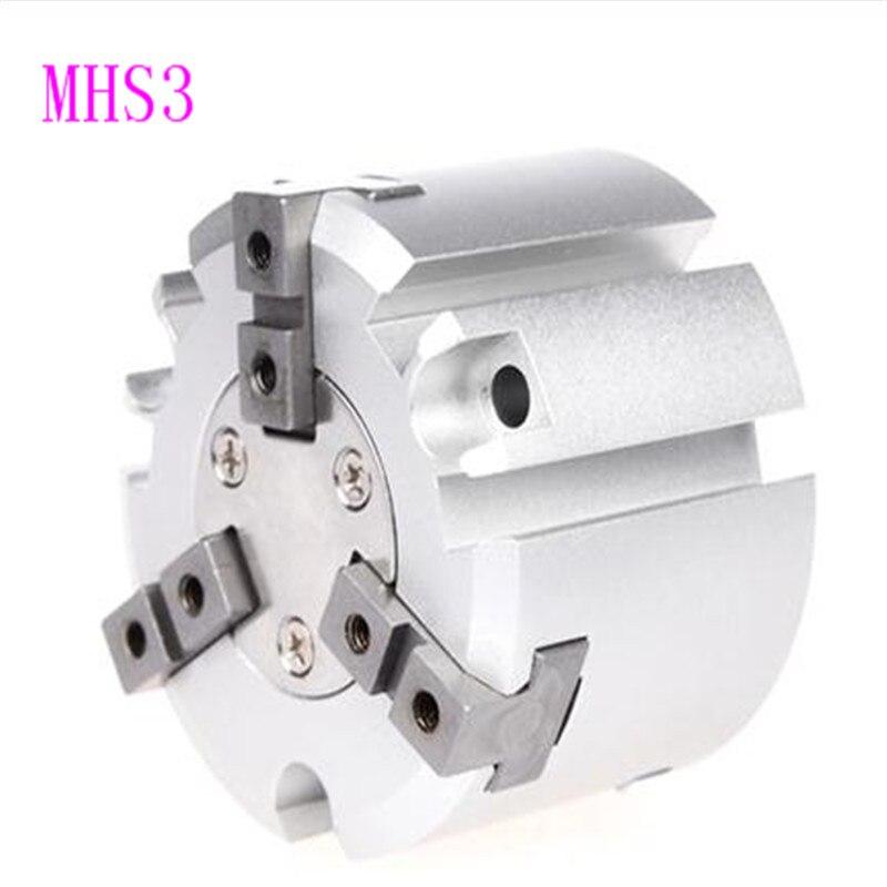 SMC тип три зубец пневматический Пальчиковый цилиндр захват MHS3 100D