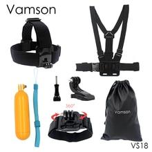 Vamson нагрудный ремень Плавающий поплавок монопод Глава Пояс крепление для GoPro Hero 5 4 3 для SJCAM для Xiaomi камеры аксессуары VS18