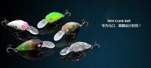 Trulinoya  fishing lure 35mm 3.8g Mini Crankbait water depth 1.6m to 2m Crankbait with BKK treble hook and split rings lure DW39