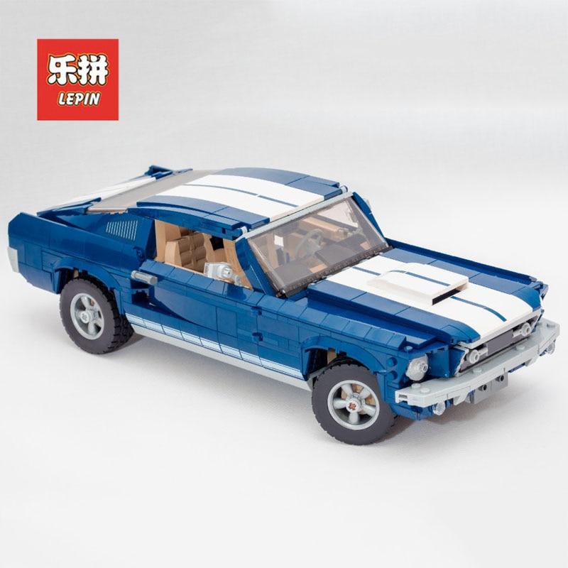 2019 Nouveau Lepin 21047 Créateur D'experts Ford Mustang ensemble de voiture Compatible Legoing 10265 Modèle Kits de Construction Blocs Briques jouet garçons Cadeau