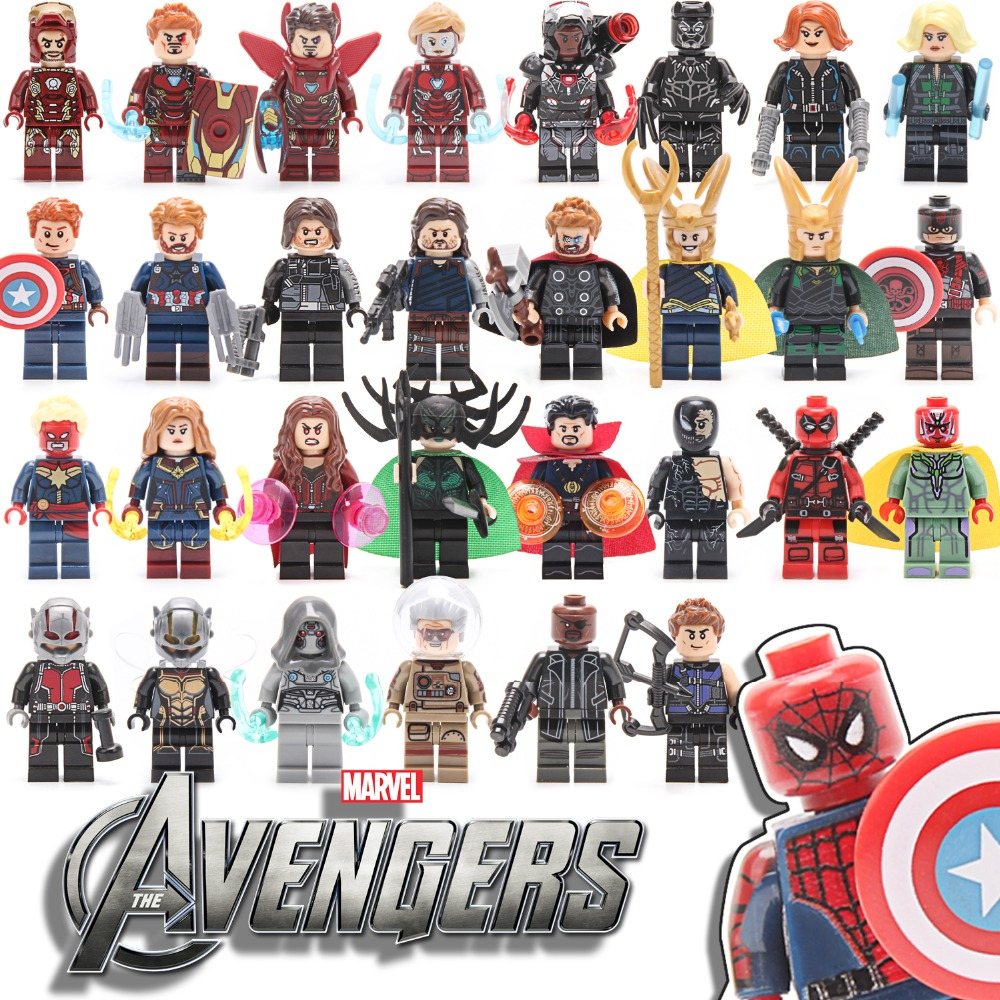 New Avengers Infinity War 3 Building Blocks Action Figures Iron Monger Hero Toys