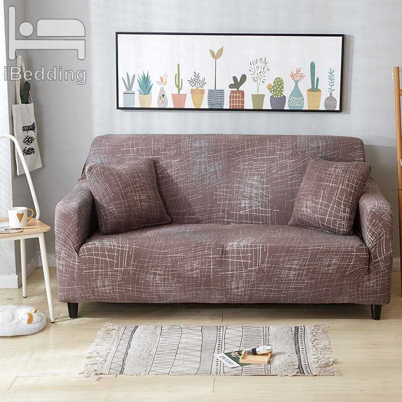 Pleasant Coffee Line Messy Elastic Sofa Protector Cover For Living Pdpeps Interior Chair Design Pdpepsorg