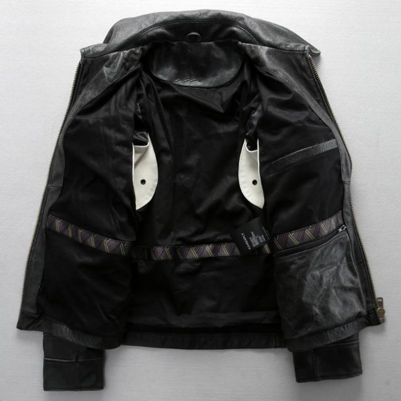 Novo Avirex Fly Prava usnjena jakna David Backham Style Obrni navzdol - Moška oblačila - Fotografija 2