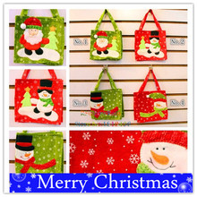 Fancy Christmas Candy Holder Bags Large Size Chrismas Shopping Bag Big Pocket For Cookies Apples Chinese Christmas Supplies