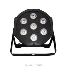 Fast Shipping Super Bright LED Par RGB SlimPar Tri 7x9W LED Stage Wash Lighting for Wedding Concert Parties DJ