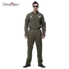 Umorden Purim Carnival Halloween Costumes Adult Men Air Force Costume Army Soldier Hero Fancy Cosplay Uniform