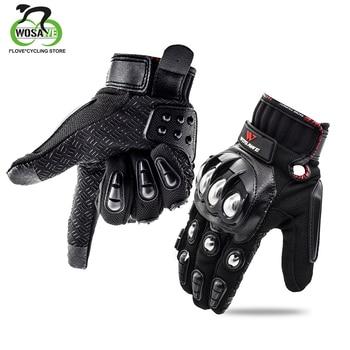 WOSAWE-Guantes de ciclismo con pantalla táctil para Motocross, Guantes de Gel antideslizantes, transpirables, para Motocross