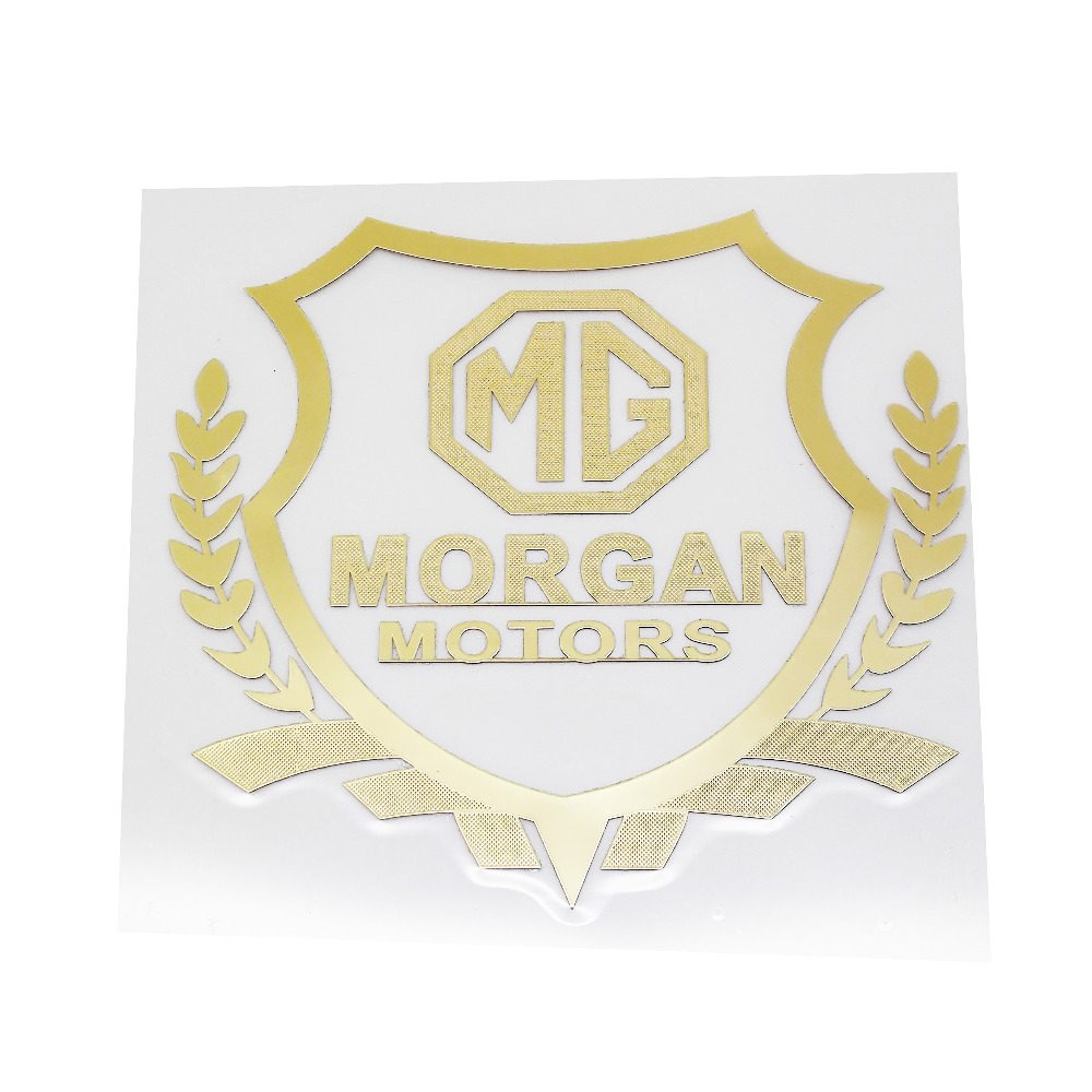 Us 1 99 for morgan logo sticker for mg morris 3 garage mg3 mg5 mg6 mg7 tf zr cheap window stickers decal car exterior decoration badge in car