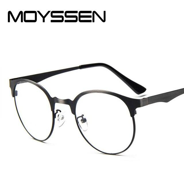02231153c1e7 MOYSSEN Fashion Women Brand Designer Metal Cat Eye Glasses Frame Men Vintage  Round Myopia Eyeglasses Prescription